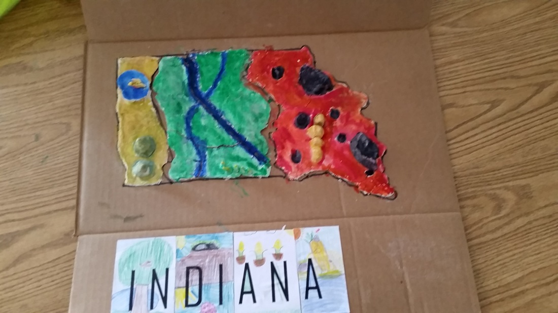 Indiana salt dough maps - Van Buren Art Room